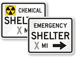 Emergency Management & Civil Defense Signs
