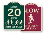 Designer Children Playing Signs
