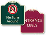 Designer Traffic Signs for Private Property