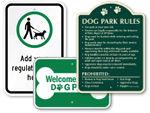 Pet Park Regulation Signs