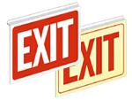 Drop Ceiling Aluminum Exit Signs