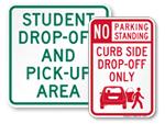 Drop Off Signs