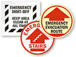 Emergency Floor Signs