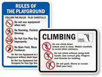 Playground Equipment Rules Signs