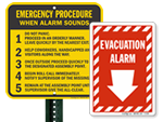 Evacuation Alarm Signs