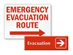 Evacuation Arrow Signs