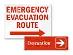 Evacuation Arrow Signs