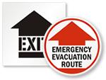 Evacuation Route Floor Signs