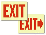 Glow-in-the-Dark Exit Signs