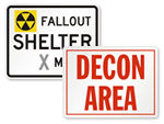 Fallout Shelter Signs & Civil Defense Signs