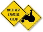 Farm Machinery Crossing Signs