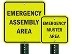 Fluorescent Reflective Emergency Signs