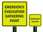 Fluorescent Emergency Signs