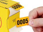 Flourescent Number Stickers