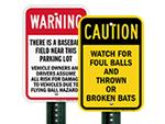 Foul Ball Warning Signs