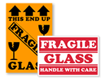 Fragile Glass Shipping Labels