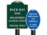 Custom Octagon Parking Signs