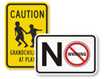 Funny Child at Play Signs