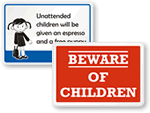 Humorous Children at Play Signs