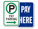 Garage Parking Payment Signs