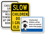 Humorous Child At Play Signs