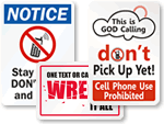 Humorous Turn Off Cell Phone Signs