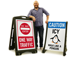 In-Stock A-Frame Signs for Parking Lots