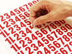 Low Cost Sheets of Die-Cut Numbers & Letters