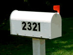 Mailbox Number Stickers