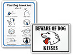 Pets at Play Signs