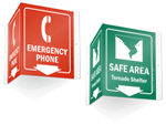More Projecting Signs for Emergencies