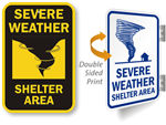 More Severe Weather Shelter Signs