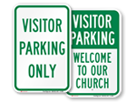 More Visitor Parking Signs