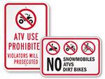 No ATV Signs