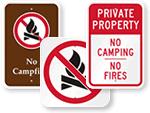 No Campfire Signs