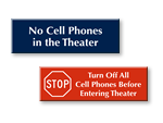 No Cell Phones Signs For Theater