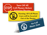 No Cell Phone Signs For Theater