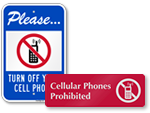 No Cell Phones in Locker Room Signs