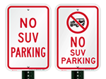 No SUV Parking Signs