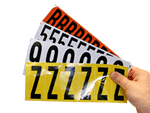 Laminated Mylar Numbers and Letters