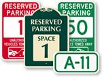 Parking Spot Signs