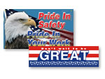 Patriotic Safety Banners