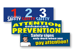 Pay Attention to Safety Banners