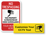 Personalized CCTV & Video Surveillance Door Signs