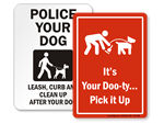 Pet Waste Signs