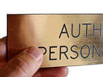 """Plastic Engraved Signs – with a Brass """"Look"""""""