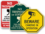 Playground Surveillance Signs