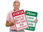 Please & Instruction Signs
