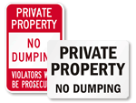 Private Property No Dumping