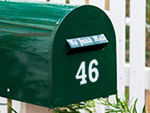 Reflective Mailbox Numbers